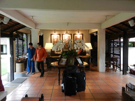 Tamarind Village: the reception area