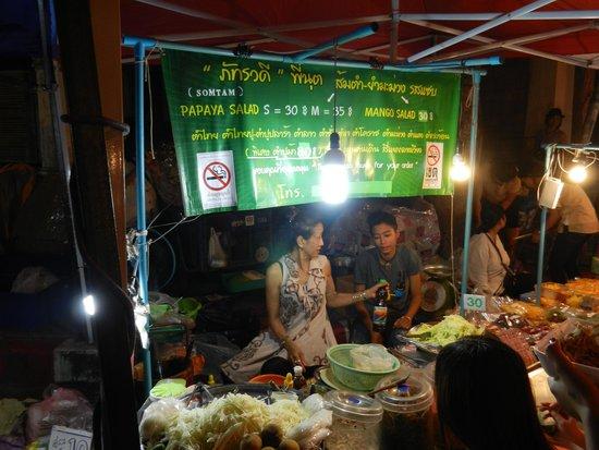 Tamarind Village: stall in the walking market