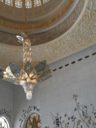 Mezquita Sheikh Zayed: bezauberd ist auch der Blick nach oben
