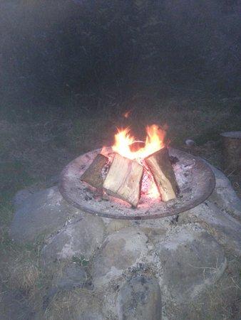 Killarney Glamping at Grove: Toasting Marshmallows!