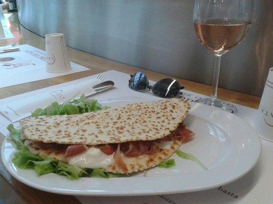 Eataly Lingotto: Piadina squacquerone e prosciutto crudo