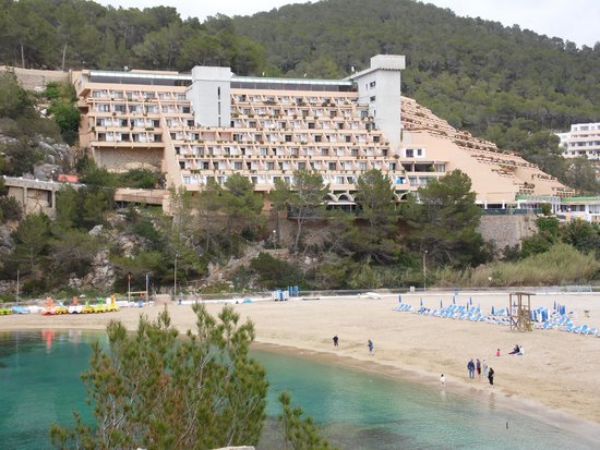 San Miguel Hotel : Hotel from beach.