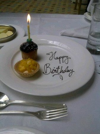 Sunday Champagne Brunch at The Landmark London: 'Happy Birthday'- they ask if its a special occassion