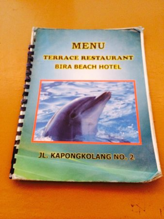 Anda Beach Hotel & Restaurant: Buku Menu