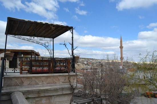 Goreme House : Rooftop Terrace and Mosque Minaret