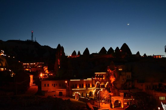 Goreme House : View from Rooftop Terrace at Dusk