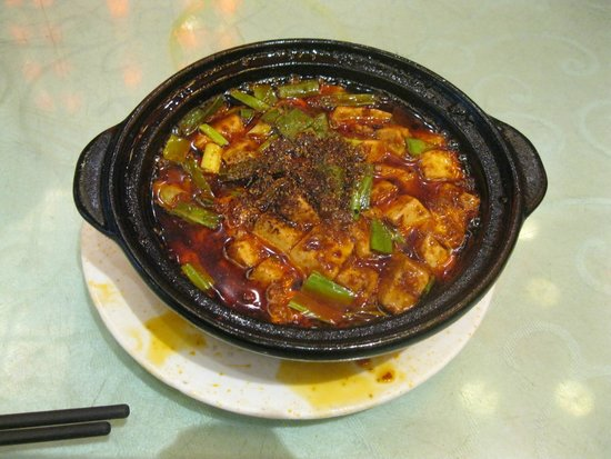 Chenmapo Beancurd : こぼれた汁がとびちってます