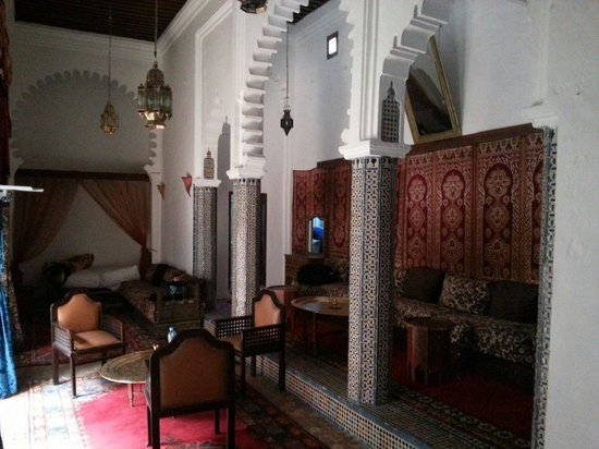 Riad Dalia Tetouan : vue depuis le lit