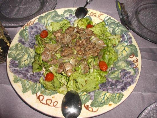 The Boudoir: Salade de foies de volailles chauds, généreuse et délicieuse!