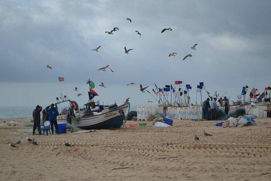 Fishing boats on Monte Gordo beach