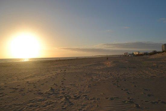 January sunset, Monte Gordo beach