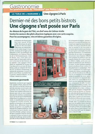 Une Cigogne à Paris : article Marianne 2012