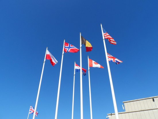 Ibis Bayeux Port en Bessin: All the nation flags who were at D-Day