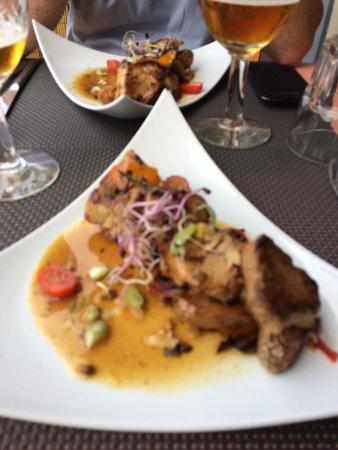 Le Lounge Breteuil: Plat du jour Mignon de porc / pommes grenailles