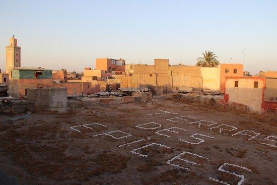 La Terrasse des épices : vue panoramique depuis un côté de la terrasse