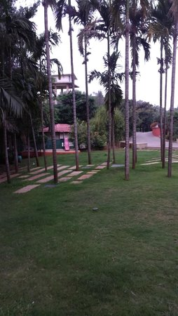 The Orchard Resort: Nice small garden to walk on in early mornings