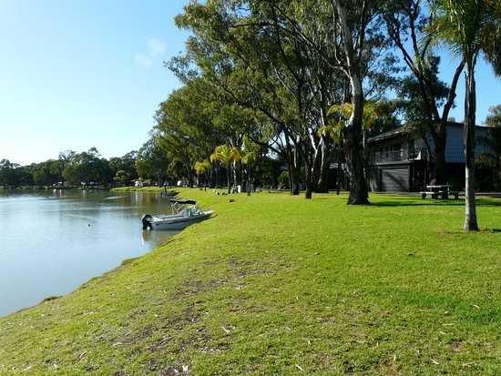 BIG4 Renmark Riverfront Holiday Park: Fishing from a boat or bank is handy