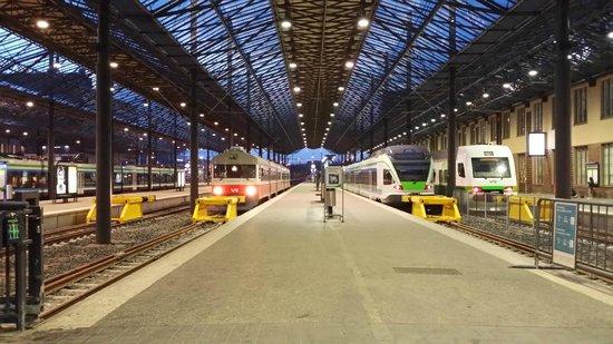 La Estación de Ferrocarril (Rautatieasema): La Estación de Ferrocarril (interior)