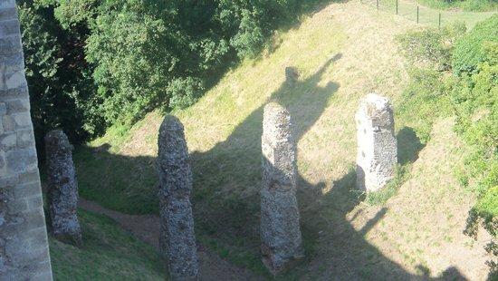 Framlingham Castle: Remains of  a bridge.