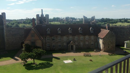 Framlingham Castle: View from the top wall.