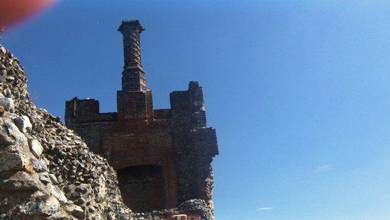 Framlingham Castle: One of the chimneys.