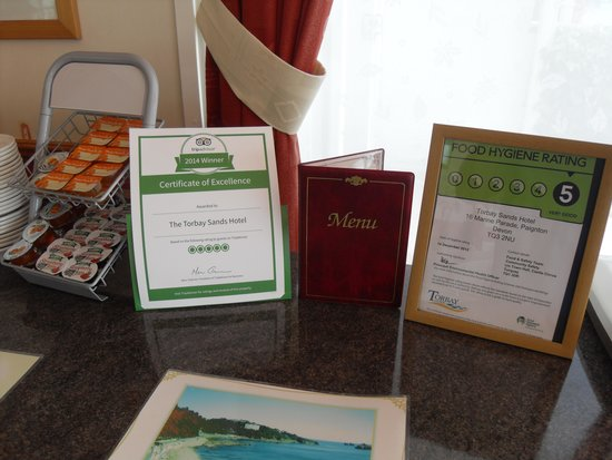 The Torbay Sands Hotel: Trip Advisor award winners
