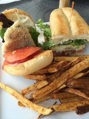 Mount Nittany Inn: Trout Sandwich, nice presentation