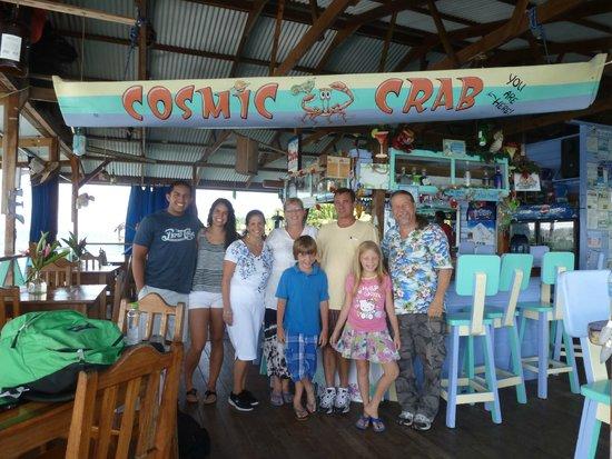 Cosmic Crab Resort : Joanie and Stephen made us feel like family