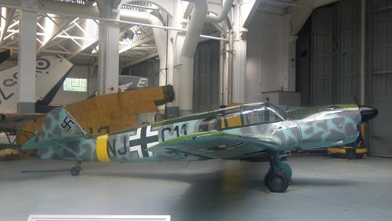 Imperial War Museum Duxford: One of the planes from the restoration hangar.