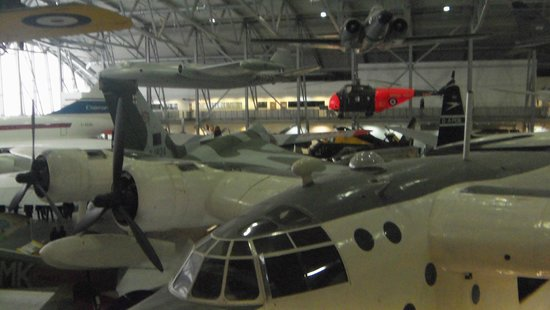 Imperial War Museum Duxford: Picture taken from the top floor.