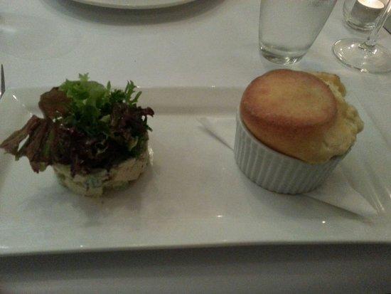 Rhubarb Rhubarb BYO Restaurant: Blue Cheese Souffle