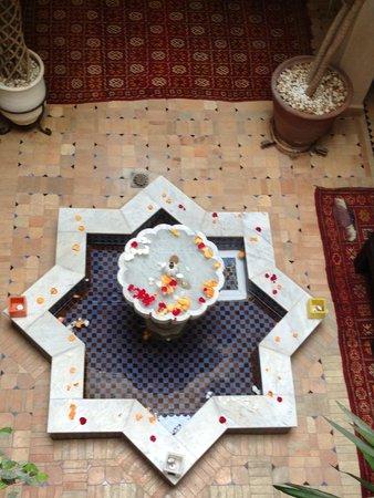 Riad La Croix Berbere De Luxe: le hall d'entrée vu d'en haut