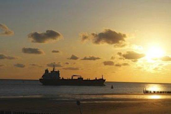 Golden Tulip Beach Hotel Westduin Vlissingen: Always ships passing by