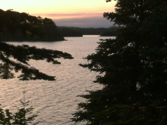Errington's Wilderness Island Resort: View from porch