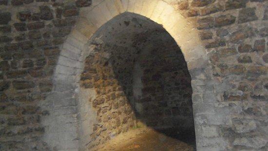 Orford Castle: inside the castle.