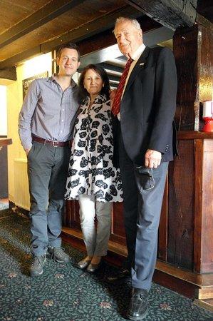 The Blue Bell Inn: Matt Baker, Shirley and John Bell, 617 Sqn Bomb Aimer