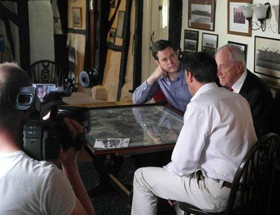 The Blue Bell Inn: Matt, John and Sean during filming