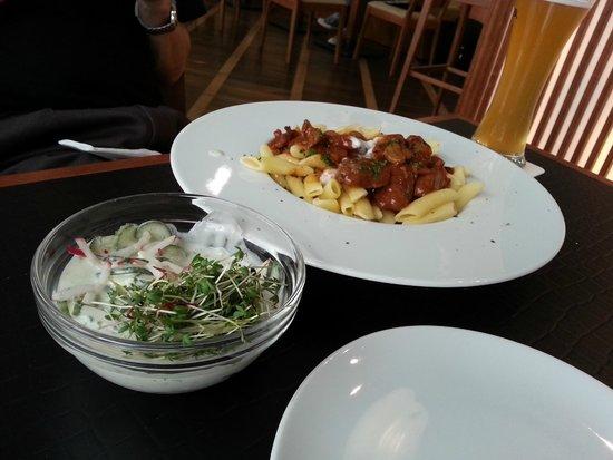 Funkhaus - Café, Bar, Restaurant: Very Tender Meat with Pasta