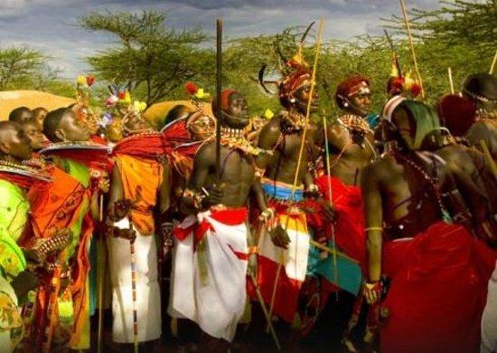 Диани-Бич, Кения: masai village