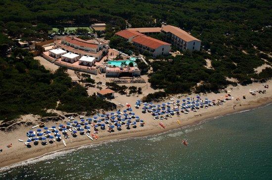 Sorso, Italië: vista aerea hotel