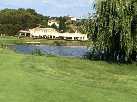 Golf de Saint Donat: Club house from 18th fairway
