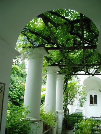 Villa San Michele : 真っ白な回廊と緑が美しい