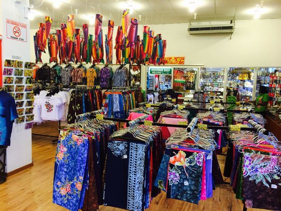 Penang Island, Malasia: The Batik Shop