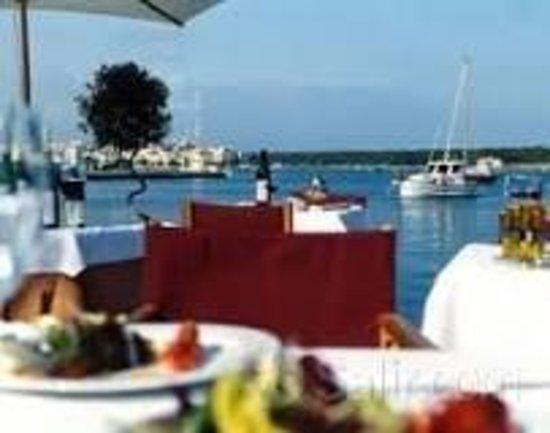 Florian: Blick über den Tisch zum Haven
