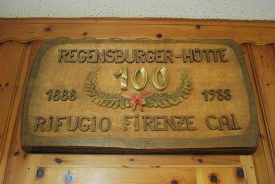 Rifugio Firenze: insegna interna