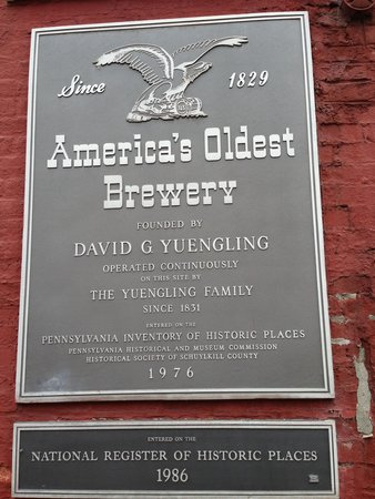 D.G. Yuengling and Son Brewery : sign