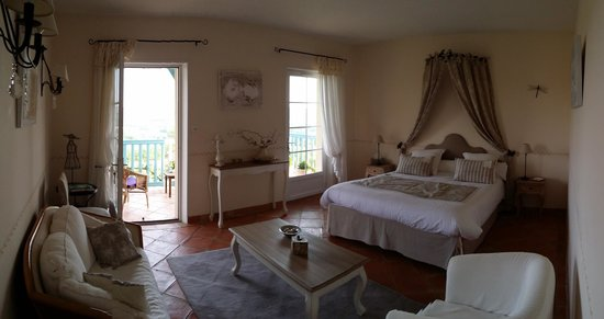Maison Olea : One of the bedrooms (for a couple) with a balcony. Located on second floor.