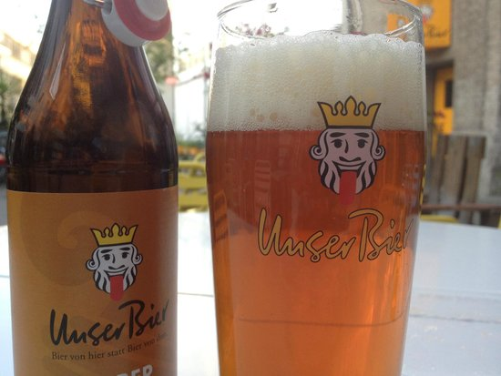 Basel Backpack : Local beer available at reception