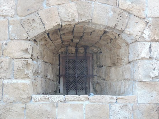 Paphos Harbour Castle: Detail of the Window in the Castle