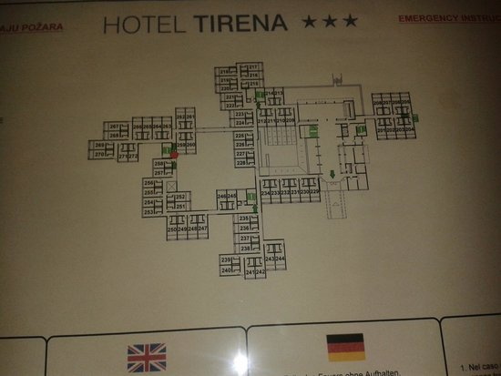 Tirena Hotel: plan de l'hotel
